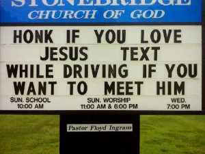 Close Reminder of the Dangers of Texting While Driving