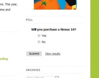 New Poll: Are You Buying a Nexus 10?