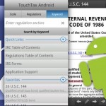 Android App Review: Tax Code and Regs – Touch Tax