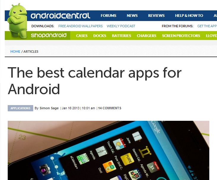 Android Central Calendar Apps