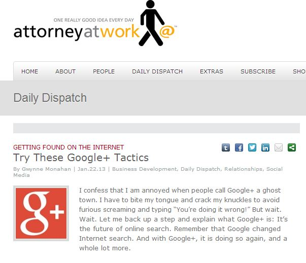 Attorney at Work Daily Dispatch