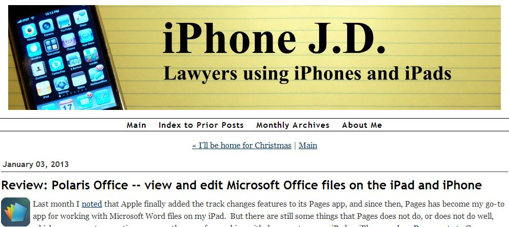 iPhone JD Polaris Office