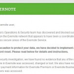Reset Your Evernote Password NOW