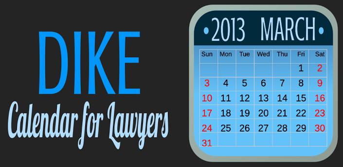 Dike Calendar for Lawyers