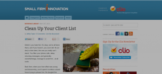 Talking Client Management at Small Firm Innovation