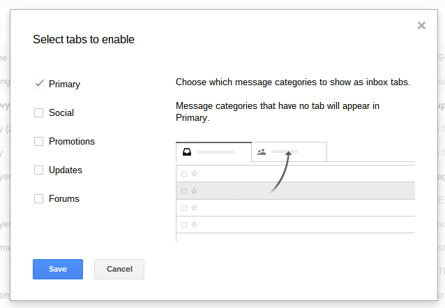 Gmail Categories