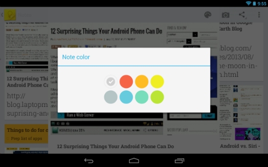 Google Keep Note Colors