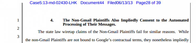 Non-Gmail Plaintiffs