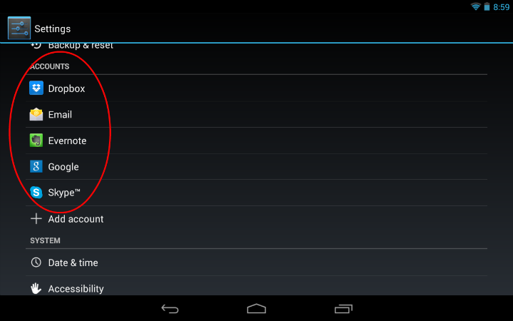 Android Account Sync