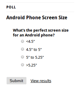 Android Phone Screen Size Poll