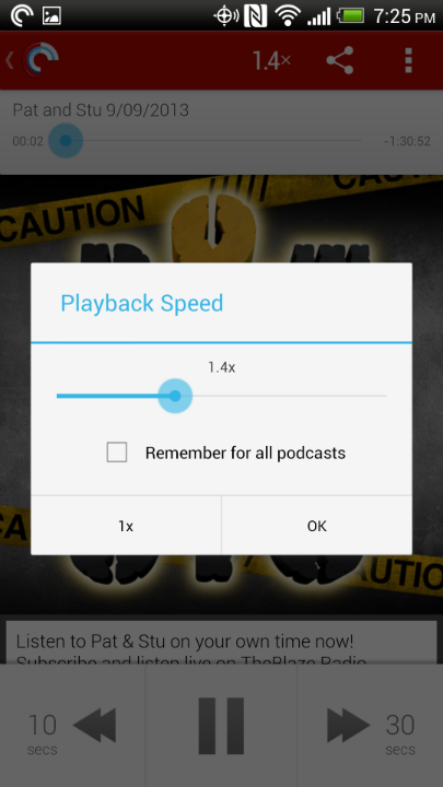 Speedy Playback on Pocket Casts