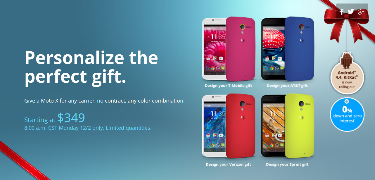 Moto X Cyber Monday Deal