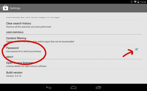 Google Play Password