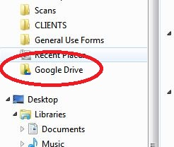 Google Drive Folder on Desktop