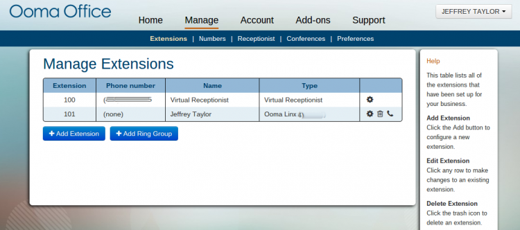 Ooma Office Manager