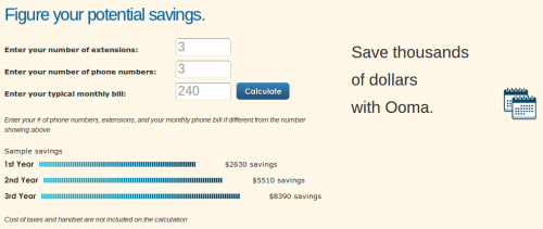 Ooma Savings Predictor