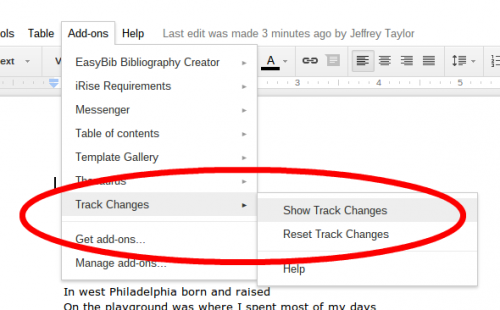 Show Track Changes