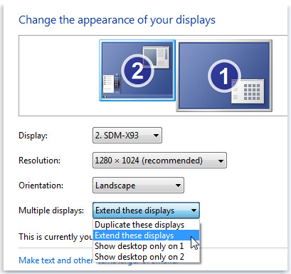 Windows Multiple Monitors