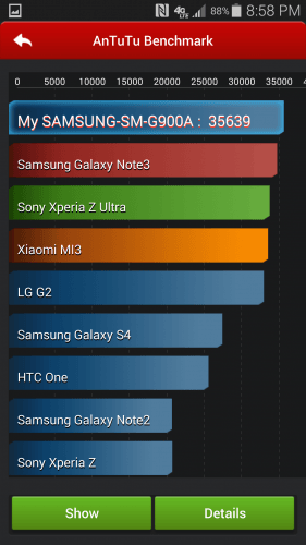 ANTUTU Benchmark Galaxy S5