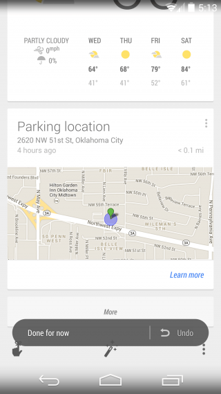 Don't Forget Where You Parked Your Vehicle with Google Now