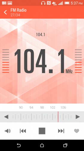HTC One M8 FM Radio