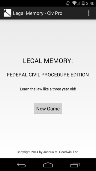 Android App Review: Legal Memory — Civil Procedure