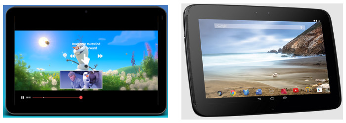 Nexus 10 Comparison