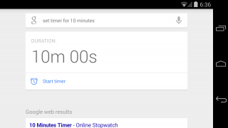 Google Now Can Set a Timer