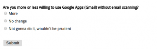 New Website Poll: Your Willingness to Use Google Apps