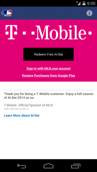 T-Mobile Offers MLB at Bat for Free to Subscribers