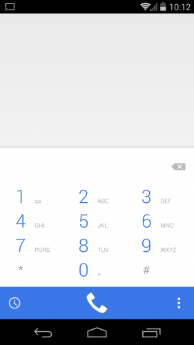 Dialer layout