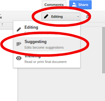 google docs editing roll