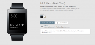 Get an LG G Watch for $179 Through September 23