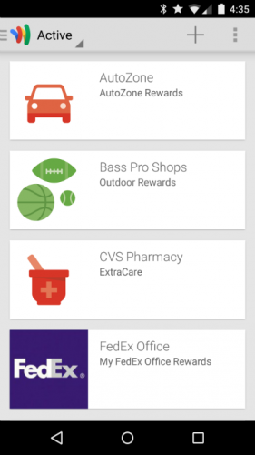 Google Wallet Loyalty Cards