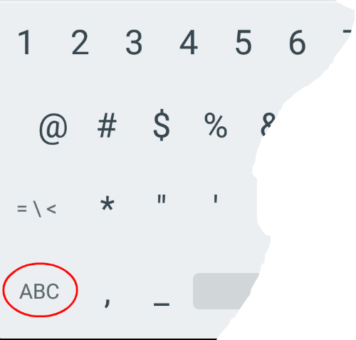 keyboard ABC