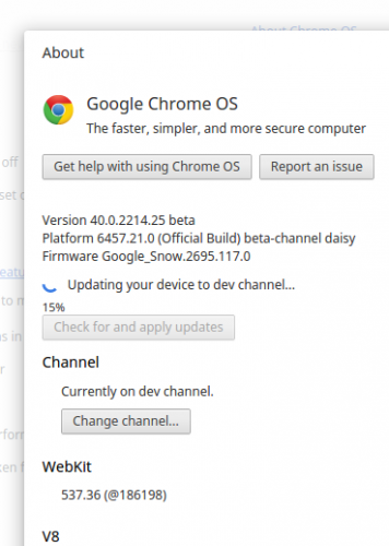 updating chrome os