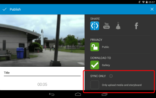 WeVideo Publish Sync Only