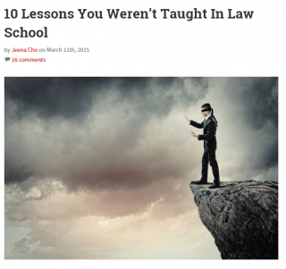 10 Lessons from Lawyerist, Worth a Read