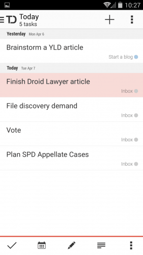 Screenshot Todoist