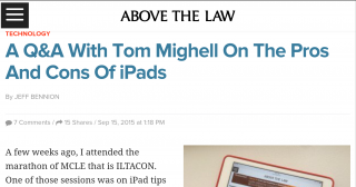 The Pros and Cons of iPads. Or More Specifically, Tablets