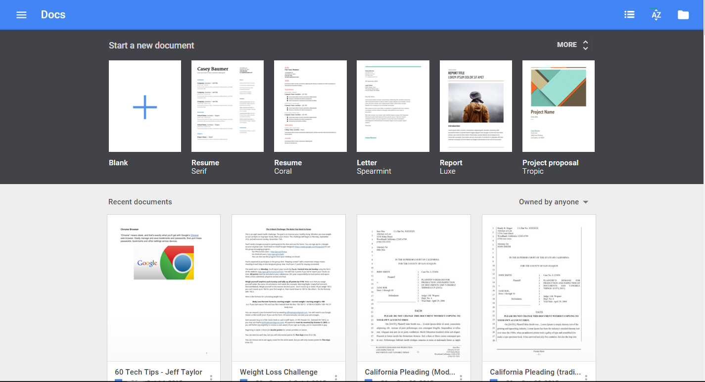 resume templates google docs 3700