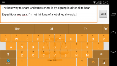 Adaptxt Legal Keyboard
