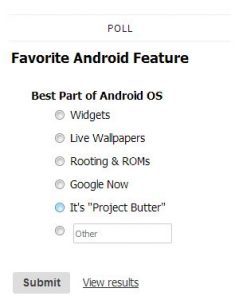 Favorite Android Feature Poll