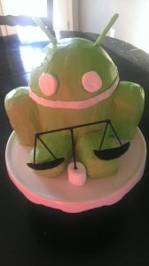 Android Lawyer Birthday Cake