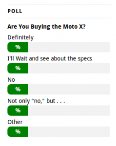 Moto X Website Poll