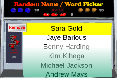 Name Picker - Sarah Gold