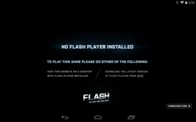 No Flash Player Installed