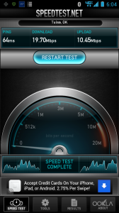 4G LTE Speedtest.net Screenshot