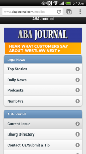 ABA Journal Mobile Site