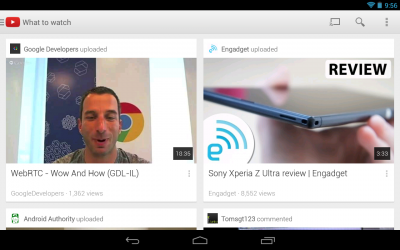 YouTube 5.0 Android App Update